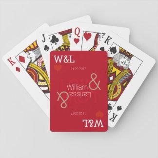 verbinden Sie Namen, die romantische Feier, Spielkarten