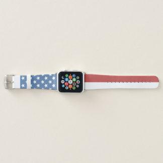 Verblaßte amerikanische Flagge Apple Watch Armband