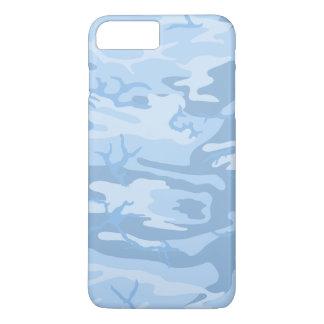 Verblaßte blaue Camouflage iPhone 7 Plus Hülle