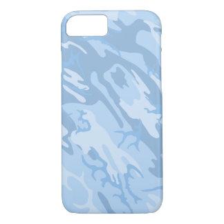 Verblaßte blaue Camouflage iPhone 8/7 Hülle