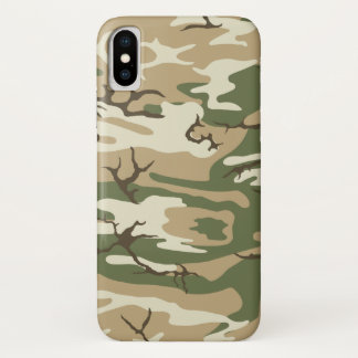 Verblaßte Camouflage iPhone X Hülle