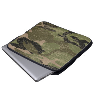 Verblaßte Camouflage Laptop Schutzhülle