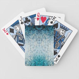 Verblaßte elegante blühen spielkarten