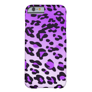 Verblaßte lila Leopard-Stellen Barely There iPhone 6 Hülle