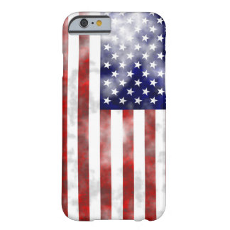 Verblaßte nette Musterflagge USA Barely There iPhone 6 Hülle