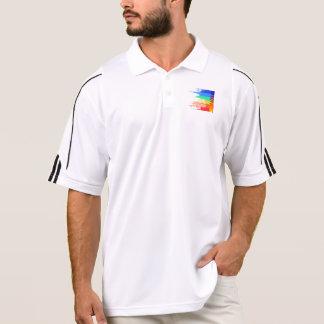 Verblaßte retro Popspektrumfarben Polo Shirt