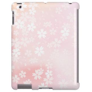 Verblaßte rosa/weiße Kirschblüten iPad Hülle