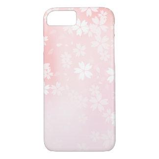 Verblaßte rosa/weiße Kirschblüten iPhone 7 Hülle