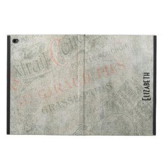 Verblaßte Vintage Pariser Papieranzeigen