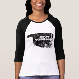 Verblaßtes Oklahoma 3/4 Hülsen-Jason-Junge-Band T-Shirt