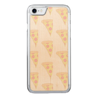 VERBLASSTES PIZZA iPhone 6/6s nehmen Ahorn-Holz ab Carved iPhone 8/7 Hülle