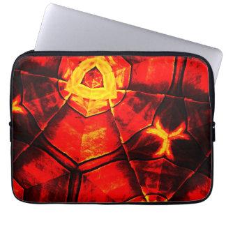 Verblaßtes rotes Muster Laptop Sleeve Schutzhüllen