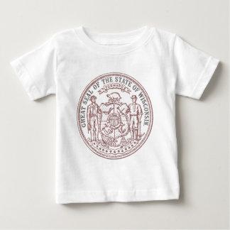 Verblaßtes Wisconsin-Siegel Baby T-shirt