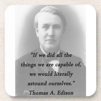 Verblüffen Sie sich - Thomas Alva Edison Getränkeuntersetzer