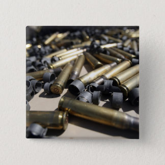 Verbrauchter Messing und aufgelöste Verbindungen Quadratischer Button 5,1 Cm