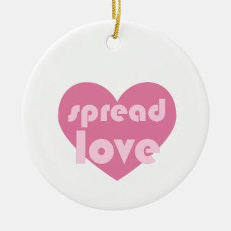 Verbreiten Sie die Liebe (allgemein) Keramik Ornament