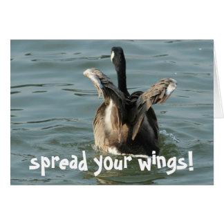 verbreiten Sie Ihre Flügel Karte