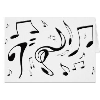 Verdrehen der musikalische Anmerkungs-Karte Karte