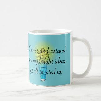 Verdrehte gute Ideen Tasse