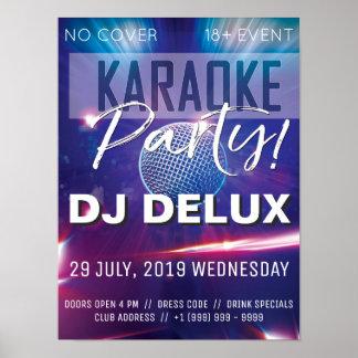 Verein-Flyer des Karaoke-Party-  DJ   Poster