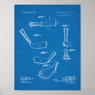Verein-Kopf-Patent-Kunst des Golf-1918, die Druck Poster