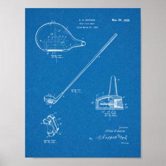 Verein-Patent-Kunst des Golf-1925, die Druck Poster