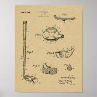 Verein-Patent-Kunst des Golf-1937, die Druck Poster