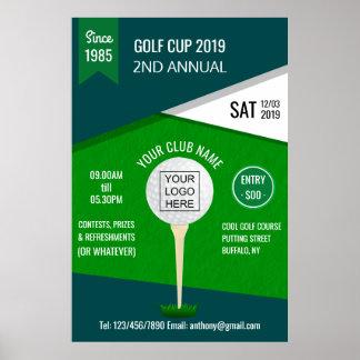 Verein/Unternehmensgolf-Turnier addieren Logo Poster