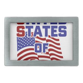 Vereinigte Staaten der Angst Rechteckige Gürtelschnallen