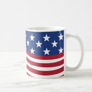 Vereinigte Staaten kennzeichnen auf weißer Tasse