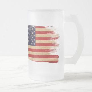 Vereinigte Staaten kennzeichnen Mattglas Bierglas