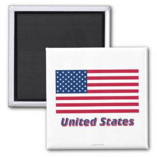 Vereinigte Staaten kennzeichnen mit Namen Magnets