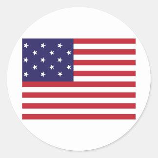 Vereinigte Staaten spielen Spangled Fahnen-Flagge  Sticker