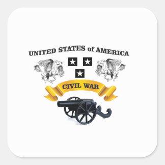 Vereinigte Staaten winged Pferd cw Quadrat-Aufkleber