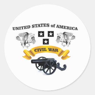 Vereinigte Staaten winged Pferd cw Runder Aufkleber