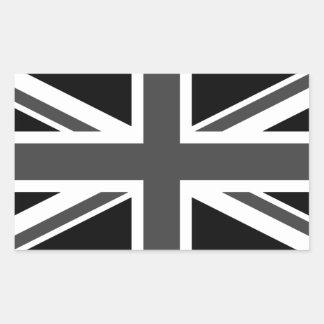 Vereinigtes Königreich: Schwarzer Rechteckiger Aufkleber