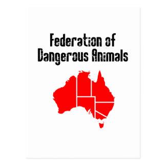 Vereinigung der gefährlichen Tiere Postkarte
