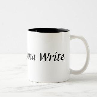 Verfasser, die gehen, Tasse zu schreiben