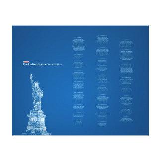 Verfassungs- der Vereinigten Staatenblau und Leinwanddruck