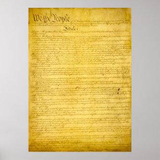 Verfassungs- der Vereinigten Staatendruck Poster