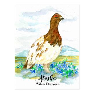 Vergessen Sie mich nicht Alpenschneehuhn-Staat von Postkarte