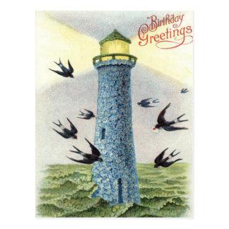 Vergessen Sie mich nicht Singvogel-Leuchtturm Postkarte