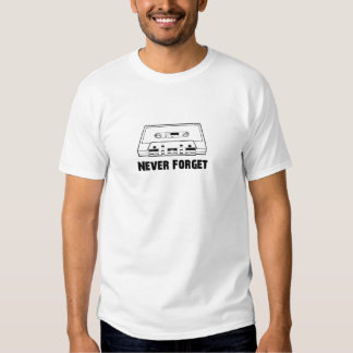 Vergessen Sie nie Kassetten Hemden