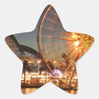 Vergnügungspark-Lichter Stern-Aufkleber