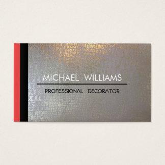 VERGOLDET Metall PROFESSIONELLES ELEGANTES Visitenkarten