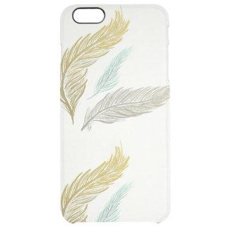 Vergoldete Federn Durchsichtige iPhone 6 Plus Hülle