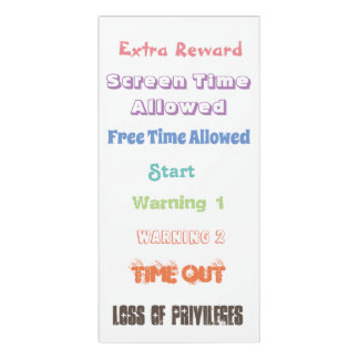 Verhalten-Klipp-Diagramm für Eltern oder Lehrer Türschild
