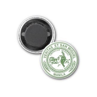 Veritas und San Miguel runder Magnet Runder Magnet 3,2 Cm