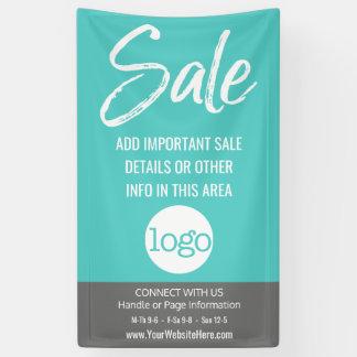 Verkaufs-Anzeige - addieren Sie Logo und Details Banner
