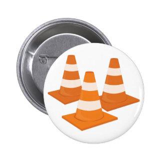 Verkehrs-Kegel Runder Button 5,7 Cm